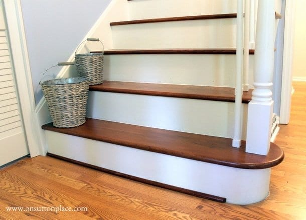 http://www.remodelaholic.com/under-100-carpeted-stair-to-wooden-tread-makeover-diy/