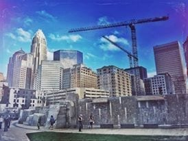 City view from Romare Bearden Park